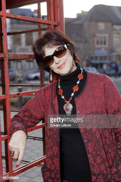 French actress Anny Duperey poses in Valenciennes before the tribute to her during the closing ceremony of Valenciennes Film Festival on March 24...