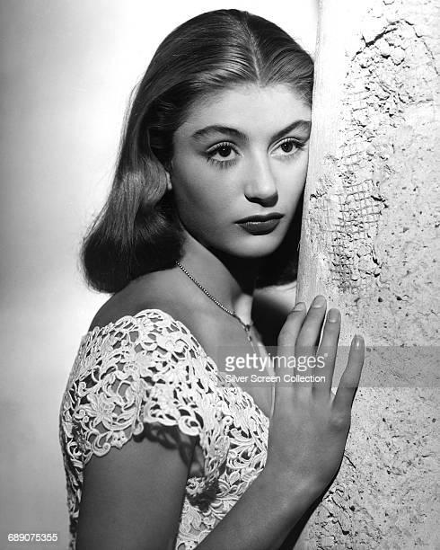 French actress Anouk Aimée, circa 1955.