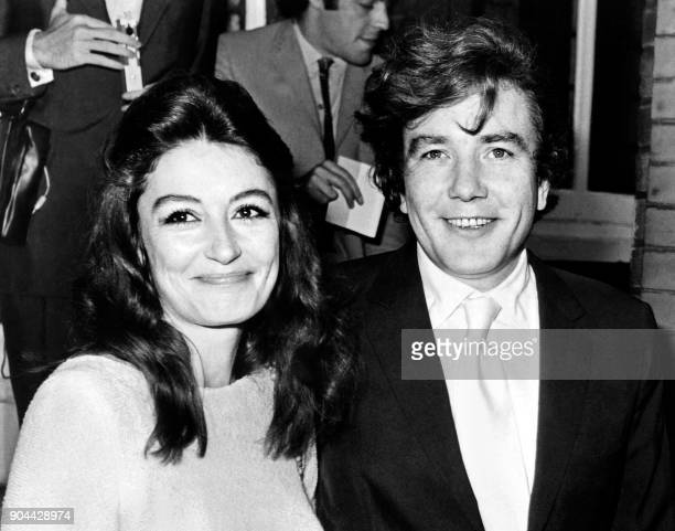 French actress Anouk Aimee and British actor Albert Finney pose after their wedding at Kensington district in London On August 8 1970 / AFP PHOTO /...