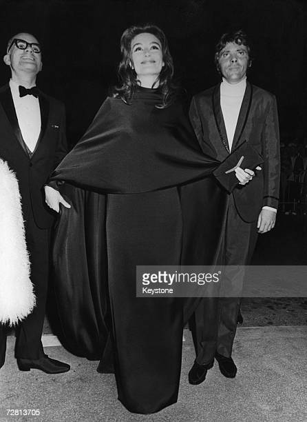 French actress Anouk Aimee at the Cannes Film Festival, May 1968.