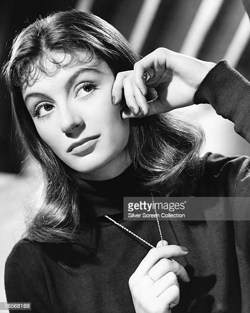 French actress Anouk Aimee, circa 1955.