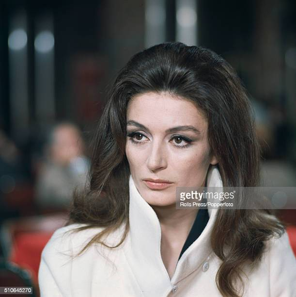 French actress Anouk Aimee pictured during filming of a scene in the Sidney Lumet directed film 'The Appointment' in Rome, Italy in June 1968.