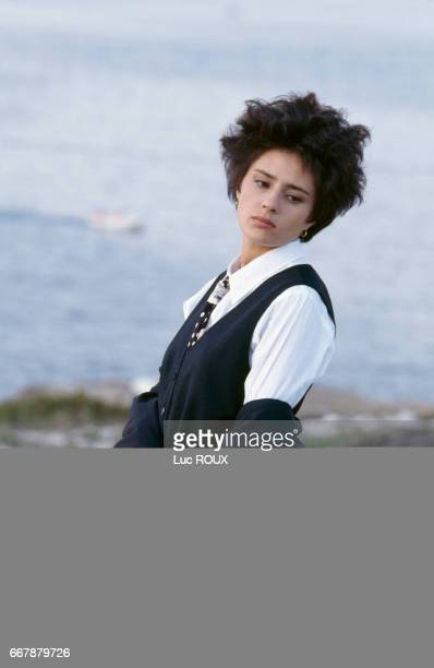 French actress Anouk Grinberg on the set of the movie Un Deux Trois Soleil written and directed by Bertrand Blier