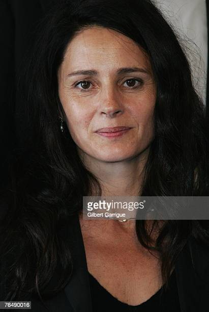 French actress Anouk Grinberg poses at the photocall for Jury members during the 33nd Deauville American film festival on September 03 2007 in...
