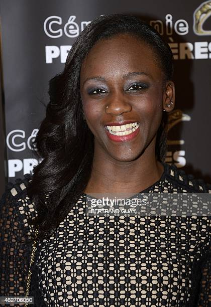 French actress Assa Sylla poses as she arrives for the 20th Lumieres awards ceremony, on February 2, 2015 in Paris. International media journalists...