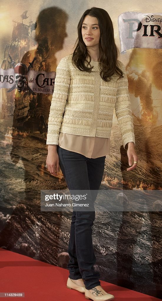 French actress Astrid Berges-Frisbey attends 'Pirates Of The Caribbean: On Stranger Tides' (Piratas del Caribe: en Mareas Misteriosas) photocall at Villamagna Hotel on May 18, 2011 in Madrid, Spain.