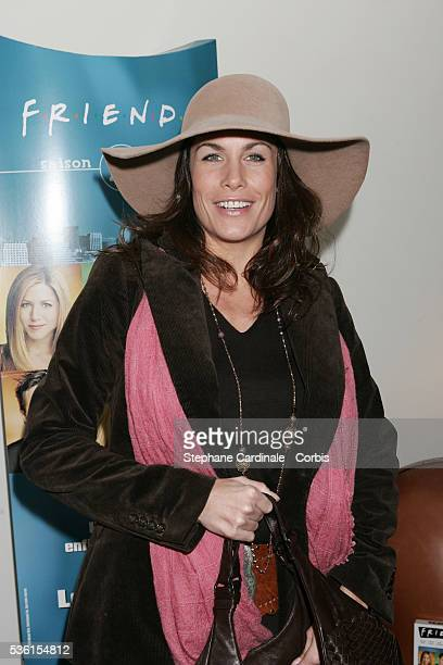 French actress Astrid Veillon attends the DVD release party of 'Friends' TV series' final season