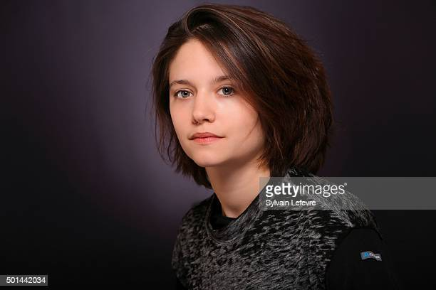 French actress Audrey Bastien is photographed for Self Assignment during Les Arcs European Film Festival on December 14 2015 in Les Arcs France
