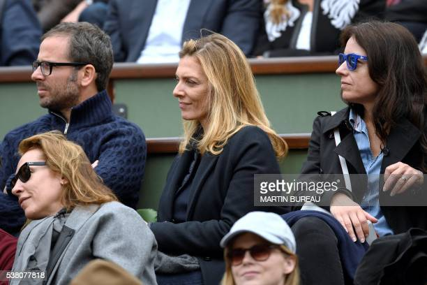 French actress Audrey Dana and French film director Isabelle Bercot attends the women's final match between US player Serena Williams and Spain's...