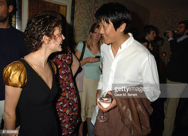 French actress Audrey Tautou and Benedict Wong attend a screening of her latest movie 'Priceless' at the Soho Hotel on June 9 2008 in London England