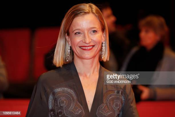 French actress Aurelia Petit poses for photographers as she arrives on the red carpet for the premiere of the film Grace a Dieu during the 69th...
