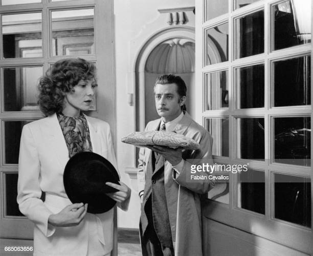 French actress Aurore Clement stars with Italian actor Giancarlo Giannini in the 1979 Italian film Le Buone Notizie The film by director Elio Petri...