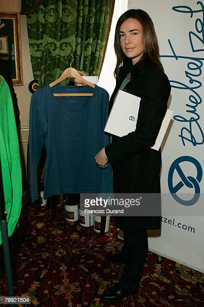 French actress Benedicte Delmas attends the 'Espace Glamour Chic' gift lounge at the Intercontinental hotel on February 20 2008 in Paris France...