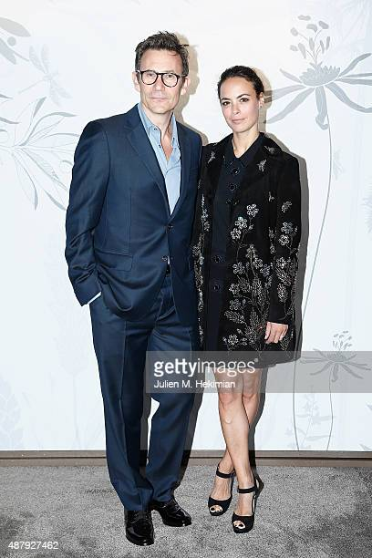 French actress Berenice Bejo and her husband Film Director Michel Hazanavicius attend the Opening Event of Chaumet Ephemeral Museum at Place Vendome...