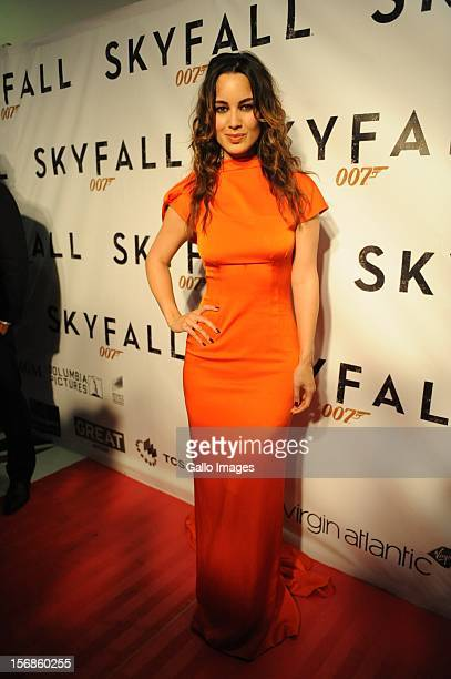 French actress Berenice Marlohe at the South African premiere of Skyfall the latest Bond film on November 22 2012 in Johannesburg South Africa...