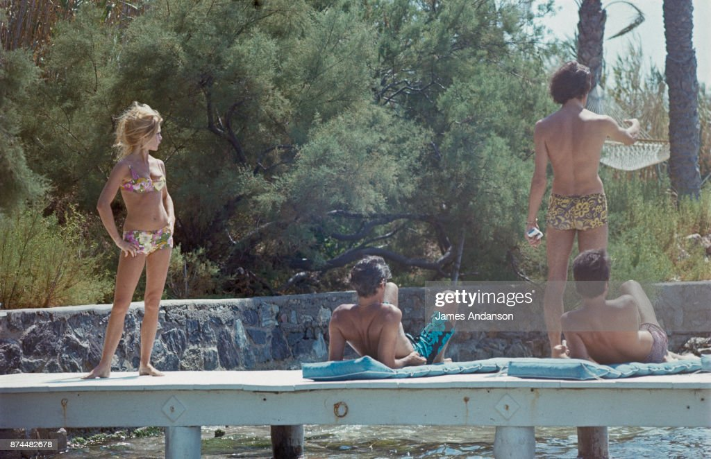 Brigitte Bardot and Luigi Rizzi at Saint Tropez : News Photo