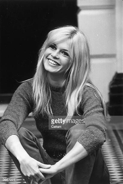 French actress Brigitte Bardot at a London Hotel.