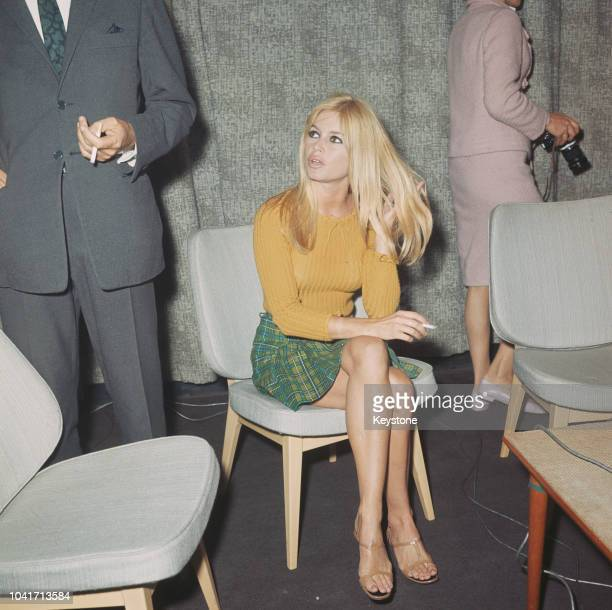 French actress Brigitte Bardot at London Airport 2nd September 1966