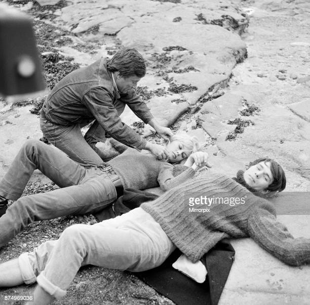 French actress Brigitte Bardot on location in Scotland during filming of her latest movie 'Two Weeks in September' with leading man Laurent Terzieff...