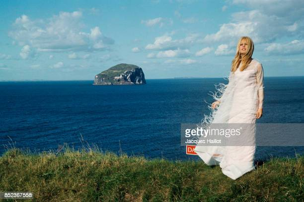 French actress Brigitte Bardot on location in Scotland for the film A Coeur de Joie directed by Serge Bourguignon