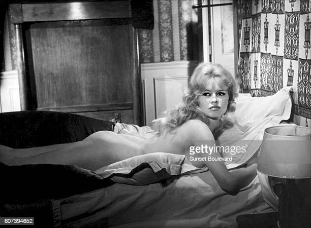 French actress Brigitte Bardot on the set of La Vérité written and directed by HenriGeorges Clouzot