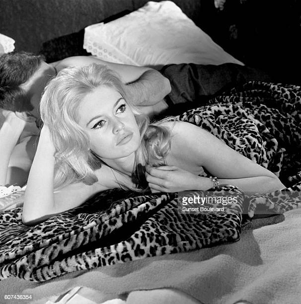French actress Brigitte Bardot on the set of Le Repos du Guerrier based on the novel by Christiane Rochefort and directed by Roger Vadim