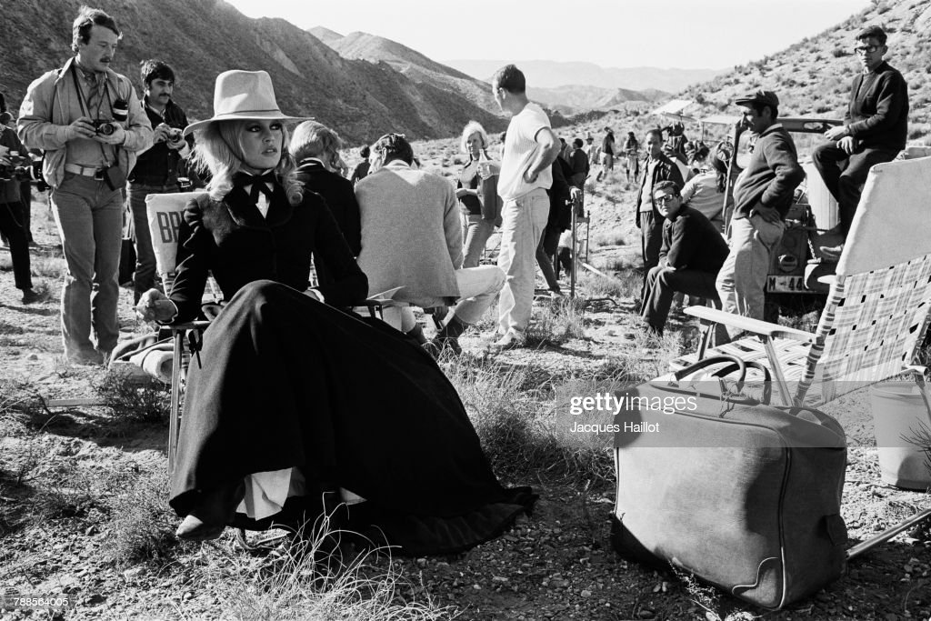 French actress Brigitte Bardot on the set of Shalako, based on the novel by Louis Lamour and directed by Edward Dmytryk.