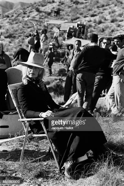 French actress Brigitte Bardot on the set of Shalako based on the novel by Louis Lamour and directed by Edward Dmytryk