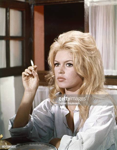 French actress Brigitte Bardot on the set of Vie Privée written and directed by Louis Malle