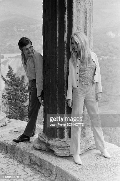 ROME ITALY French actress Brigitte Bardot with her German husband Gunter Sachs in Rome 1967