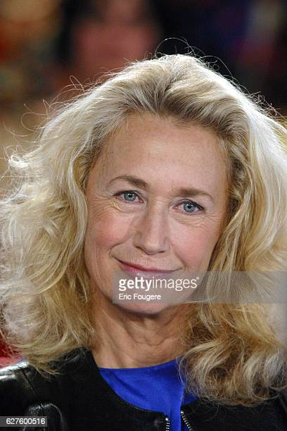 French actress Brigitte Fossey guest of the TV show 'Vivement Dimanche'