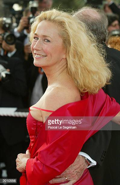 French actress Brigitte Fossey poses during the red carpet arrivals for the screening of 'Swimming Pool' May 18 2003 in Cannes Swimming pool by...