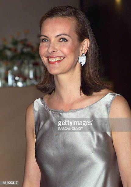 French actress Carole Bouquet arrives at the annual charity Rose Ball in Monte Carlo 20 March.