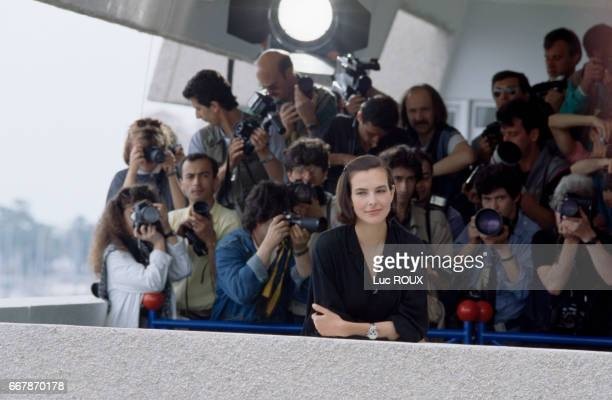 French actress Carole Bouquet during the Cannes Film Festival