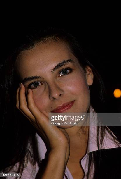 French actress Carole Bouquet in Trouville, France on August 10, 1985.