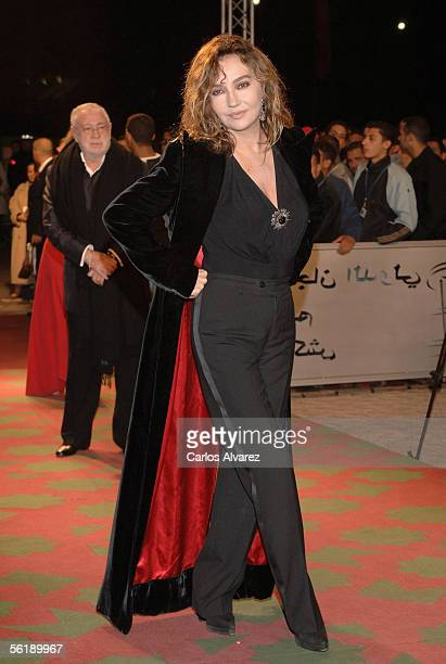 French actress Caroline Cellier attends the Gala for the day of Spanish Cinema Panorama at Le Palais des Congres during day 6 of Marrakesh...