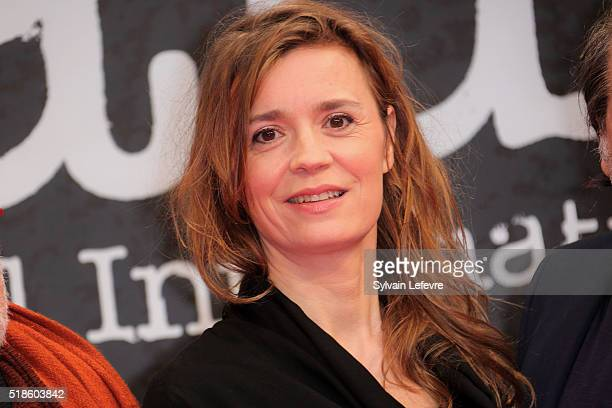 French actress Caroline Proust attends 8th Beaune International Thriller Film Festival on April 1 2016 in Beaune France