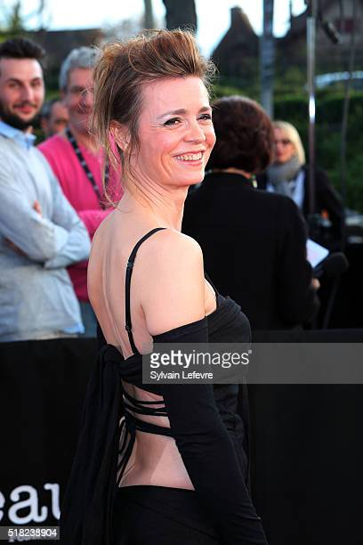 French actress Caroline Proust attends opening ceremony of 8th Beaune International Thriller Film Festival on March 30 2016 in Beaune France