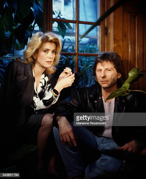 French actress Catherine Deneuve and FrenchPolish director screenwriter and producer Roman Polanski