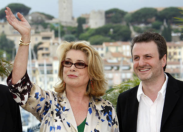 f8de672f586 French actress Catherine Deneuve (L) and. French actress Catherine Deneuve  (L) and · Kering And Cannes Film Festival Official Dinner - Photocall ...
