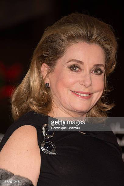 French Actress Catherine Deneuve arrives for the tribute to Hindi cinema at the 12th Marrakech International Film Festival on November 30,Marrakech...