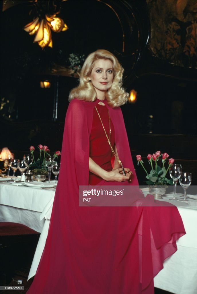French Actress Catherine Deneuve at Maxim s In Paris, France On December 31, 1973- : News Photo