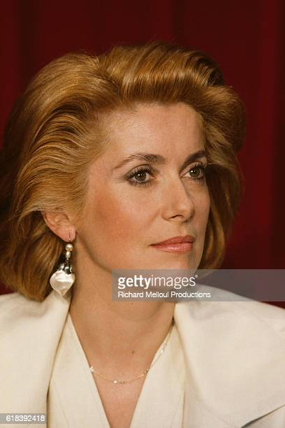 French actress Catherine Deneuve attends the 37th Cannes Film Festival