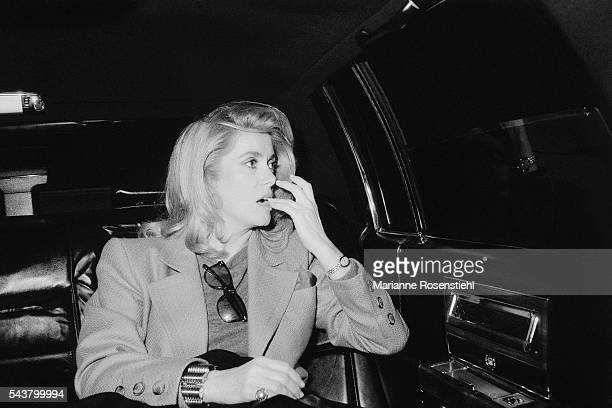 French actress Catherine Deneuve in the US for the promotion of her perfume