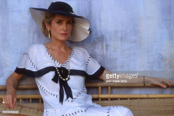 French actress Catherine Deneuve on the set of Indochine by French director screenwriter and actor Regis Wargnier