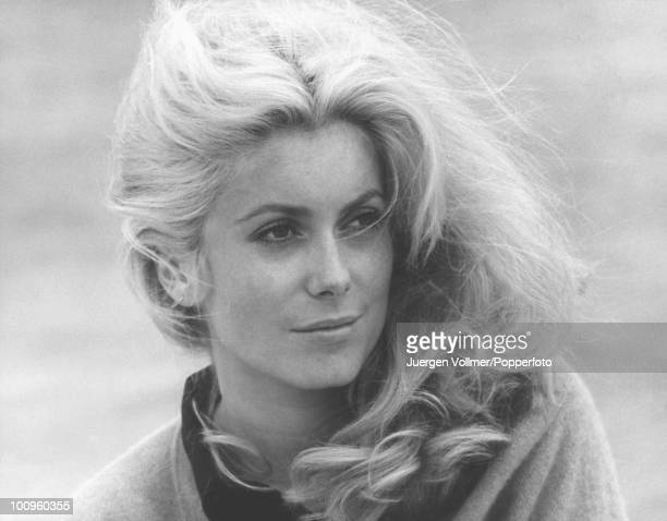 French actress Catherine Deneuve on the set of 'La Chamade' in France 1968