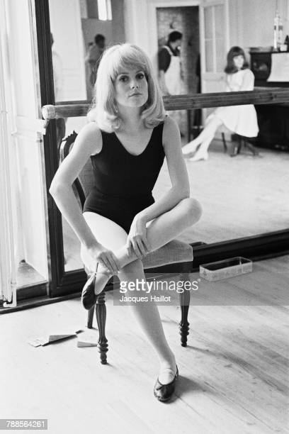 French actress Catherine Deneuve on the set of Les Demoiselles de Rochefort directed by Jacques Demy and Agnes Varda | Location Rochefort France