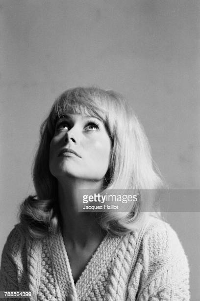 French actress Catherine Deneuve on the set of Les Demoiselles de Rochefort written and directed by Jacques Demy