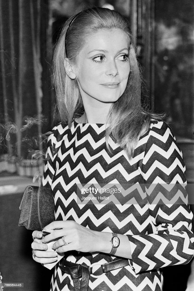 French actress Catherine Deneuve on the set of Manon 70, based on the novel by AbbÌÄå© PrÌÄå©vost and directed by Jean Aurel.