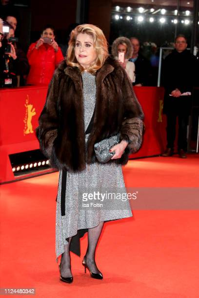 "French actress Catherine Deneuve pose at the ""Farewell To The Night"" premiere during the 69th Berlinale International Film Festival Berlin at..."
